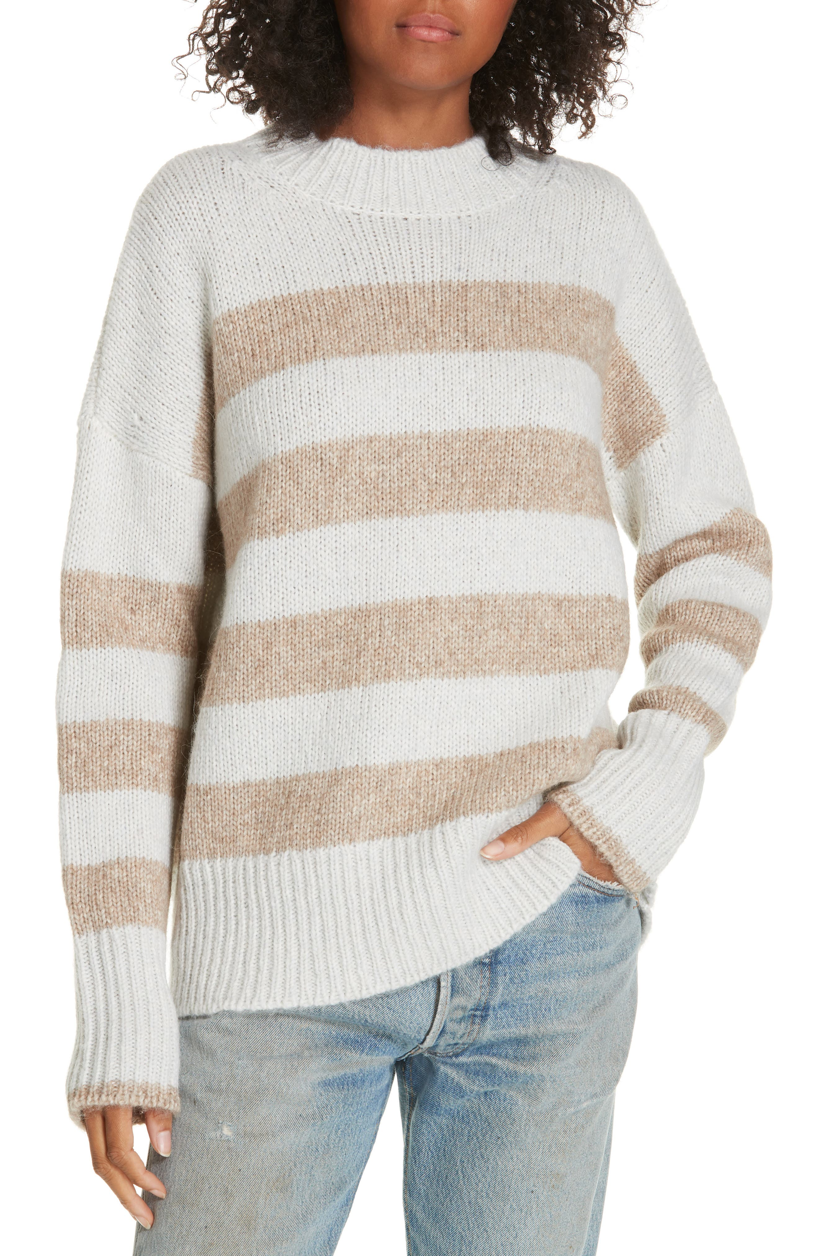 ,                             Soft Bold Marin Sweater,                             Main thumbnail 1, color,                             CREAM/ BEIGE