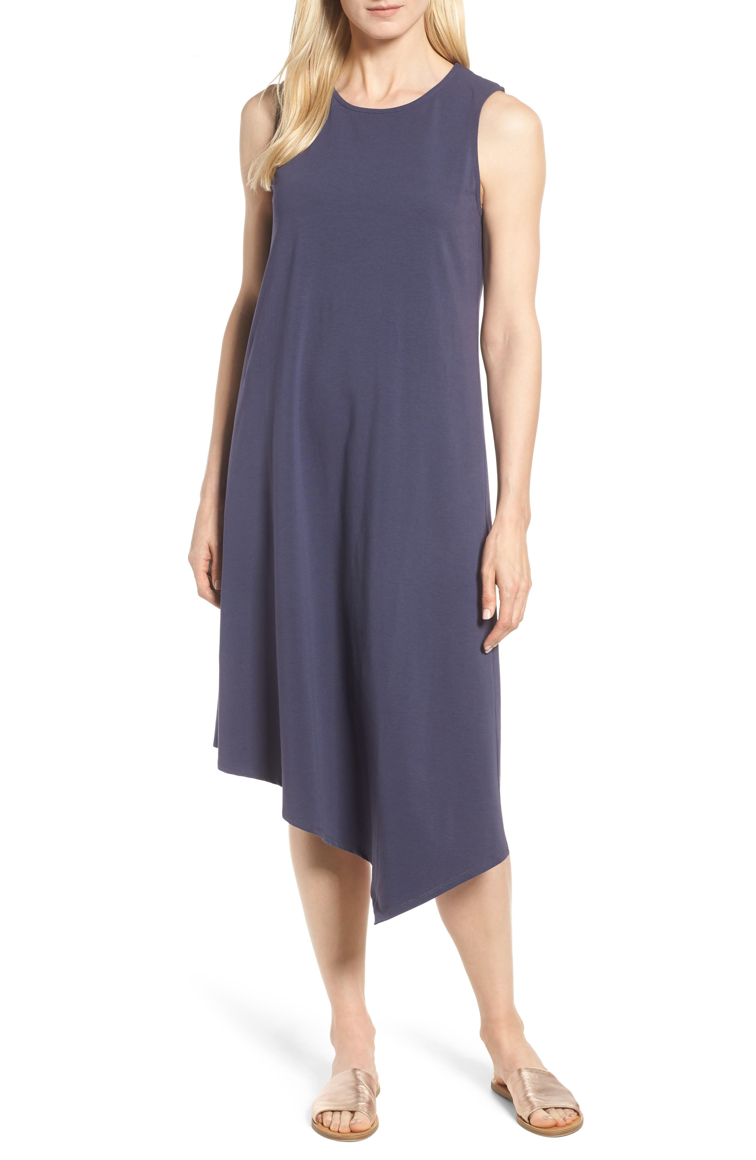Nic+Zoe Sweet Escape Tank Dress, Blue