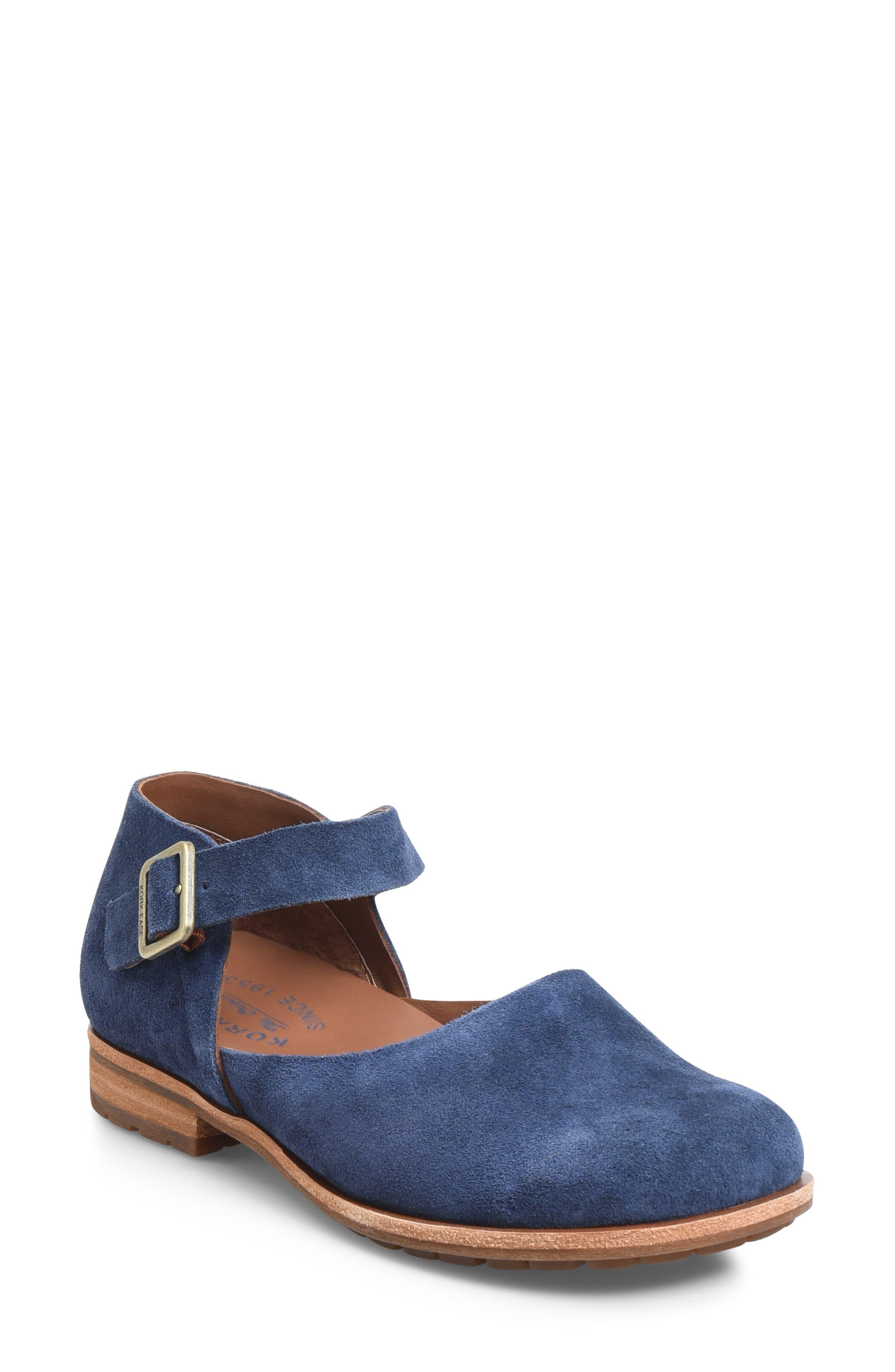 Kork-Ease Bellota Mary Jane Flat, Blue