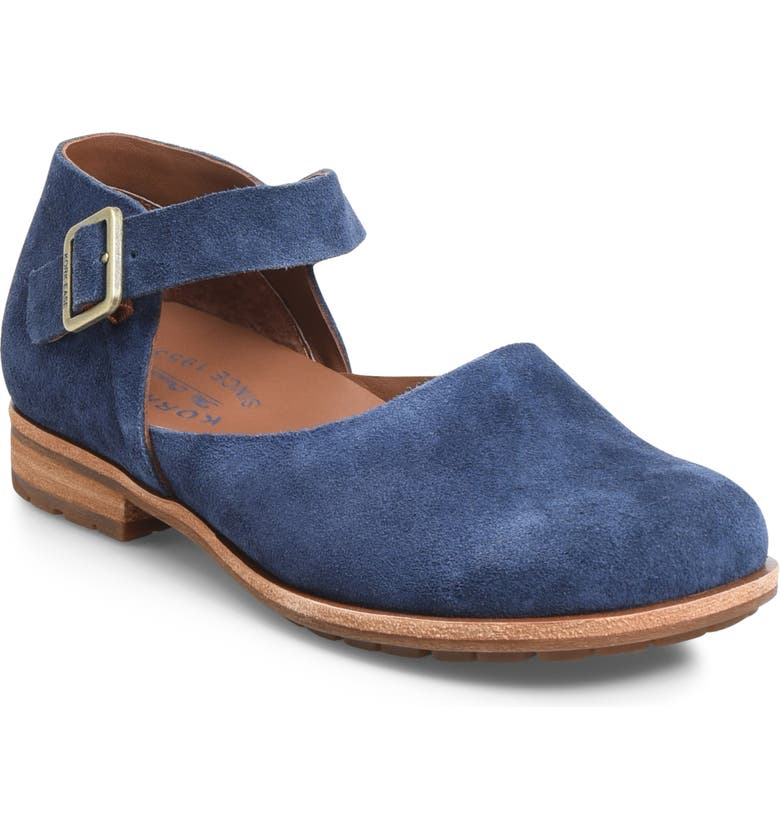 KORK-EASE<SUP>®</SUP> Bellota Mary Jane Flat, Main, color, NAVY SUEDE