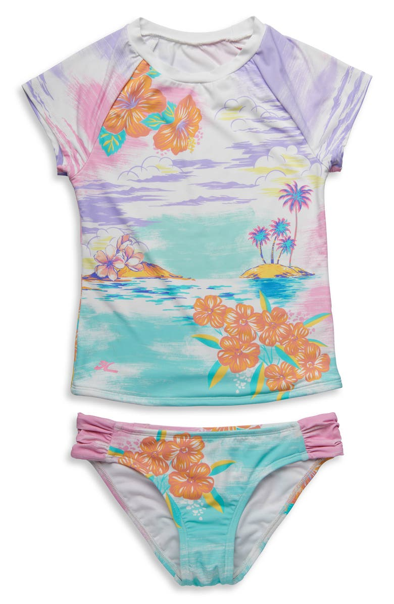 HOBIE Call Me Two-Piece Rashguard Swimsuit, Main, color, 400