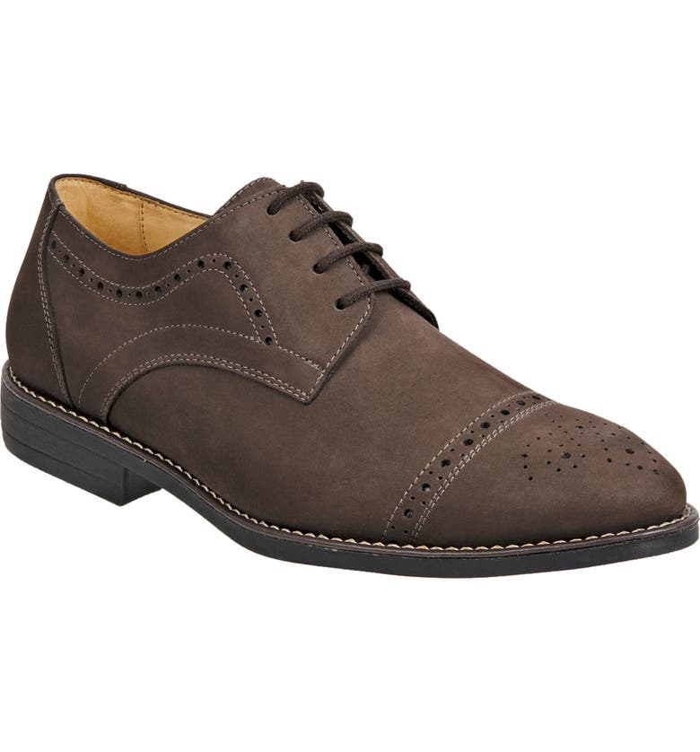 SANDRO MOSCOLONI Avery Cap Toe Derby, Main, color, BROWN