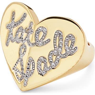 Kate Spade New York Heritage Spade Pave Script Heart Ring