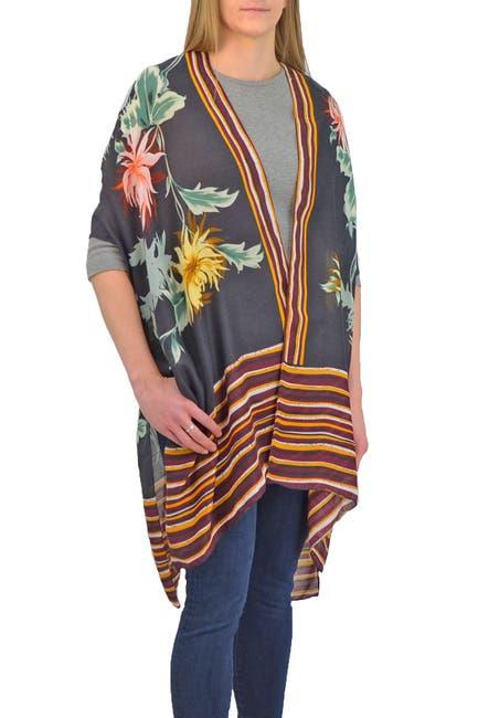 Image of SAVE THE OCEAN Floral Stripe Kimono