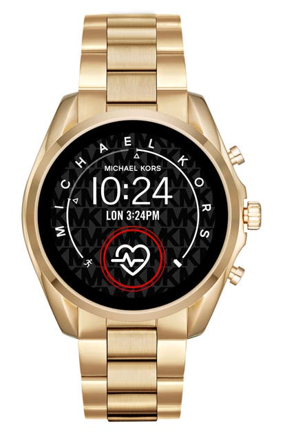 Michael Kors Access Michael Michael Kors Bradshaw 2 Bracelet Smart Watch, 44mm In Gold/ Color Display/ Gold