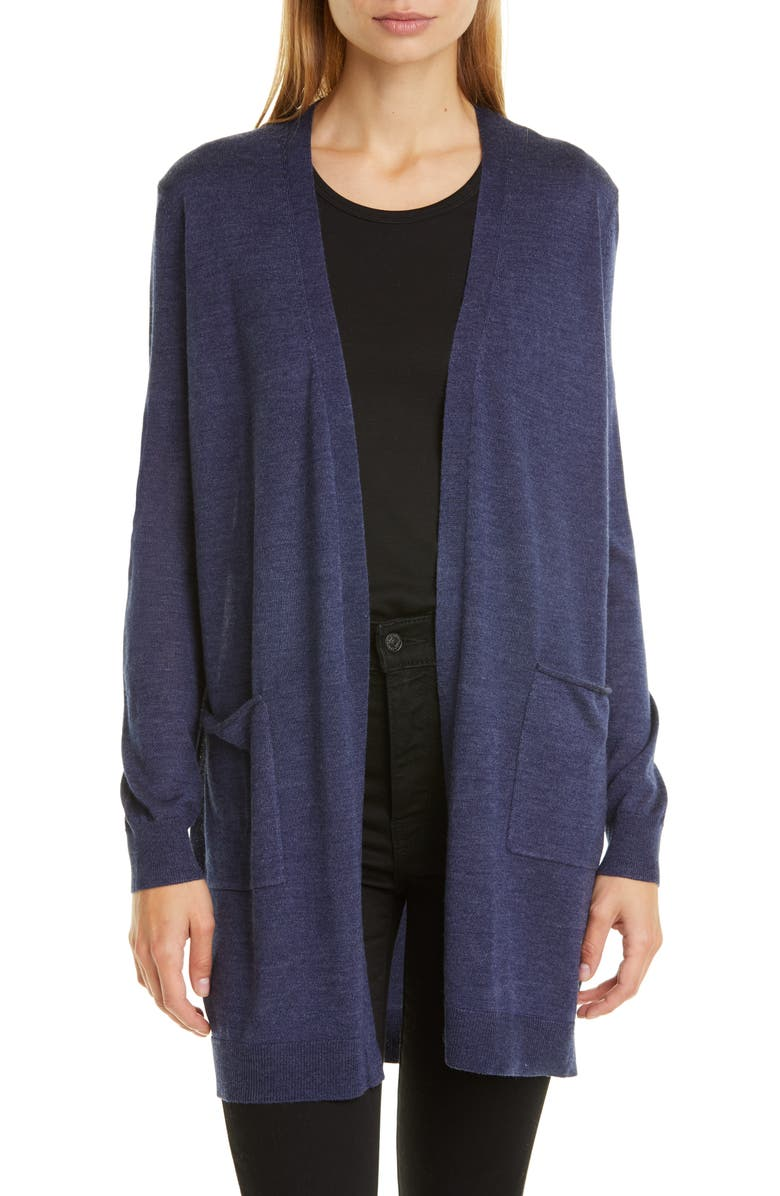 NORDSTROM SIGNATURE Wool, Silk & Cashmere Open Cardigan, Main, color, 410