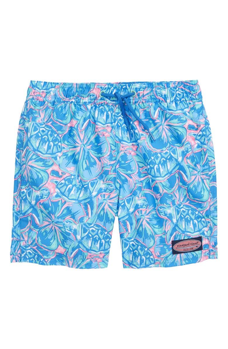 VINEYARD VINES Marlin & Starfish Chappy Swim Trunks, Main, color, HULL BLUE