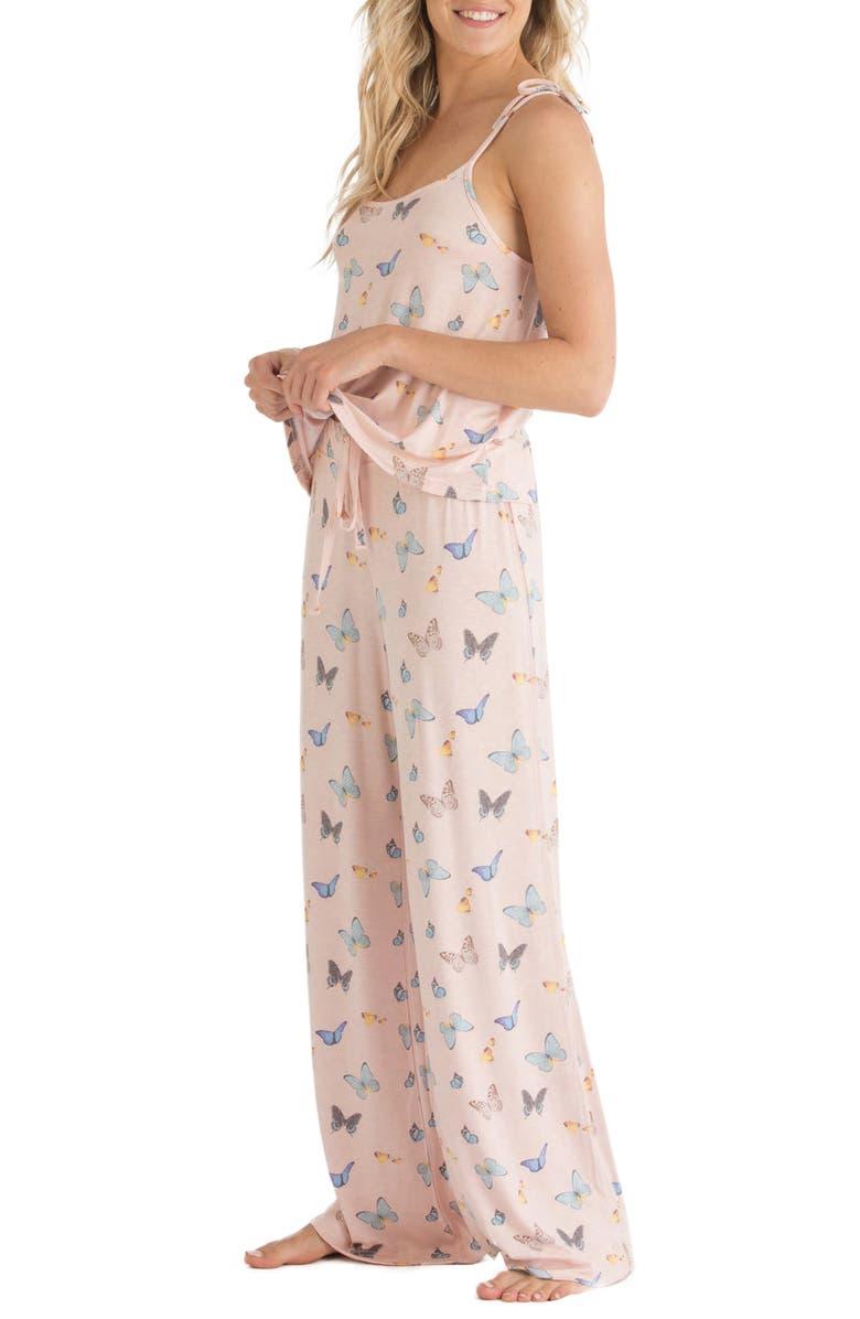 HONEYDEW INTIMATES Jersey Pajamas, Main, color, VANILLA SPICE BUTTERFLIES