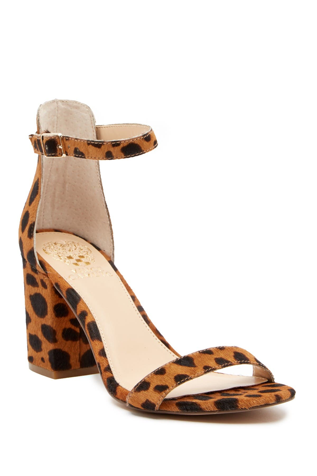 Image of Vince Camuto Beah Block Heel Ankle Strap Sandal