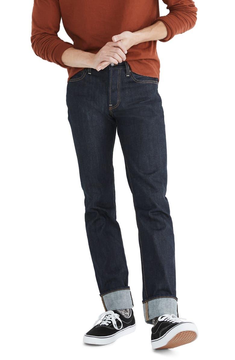 MADEWELL Rigid Slim Jeans, Main, color, RAW INDIGO