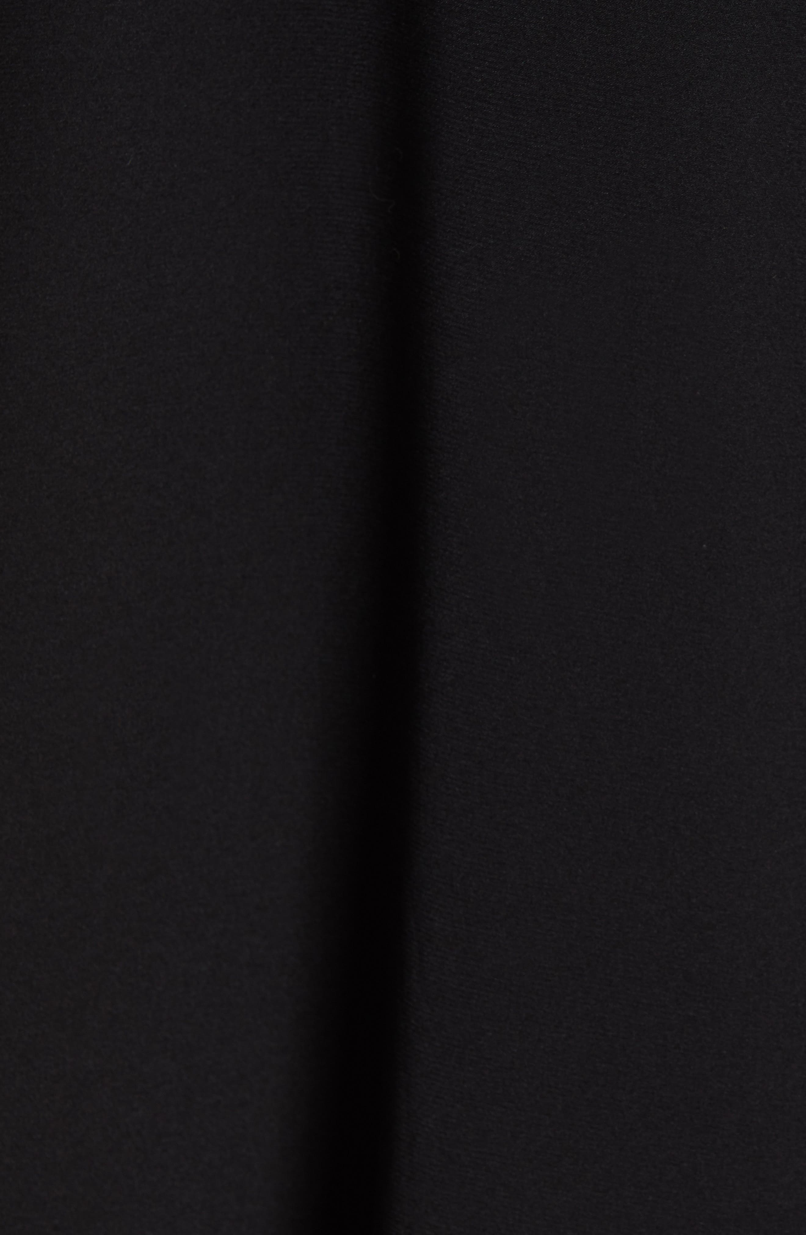 ,                             Koya Colorblock Stretch Silk Dress,                             Alternate thumbnail 7, color,                             BLACK/ NEON ROSE
