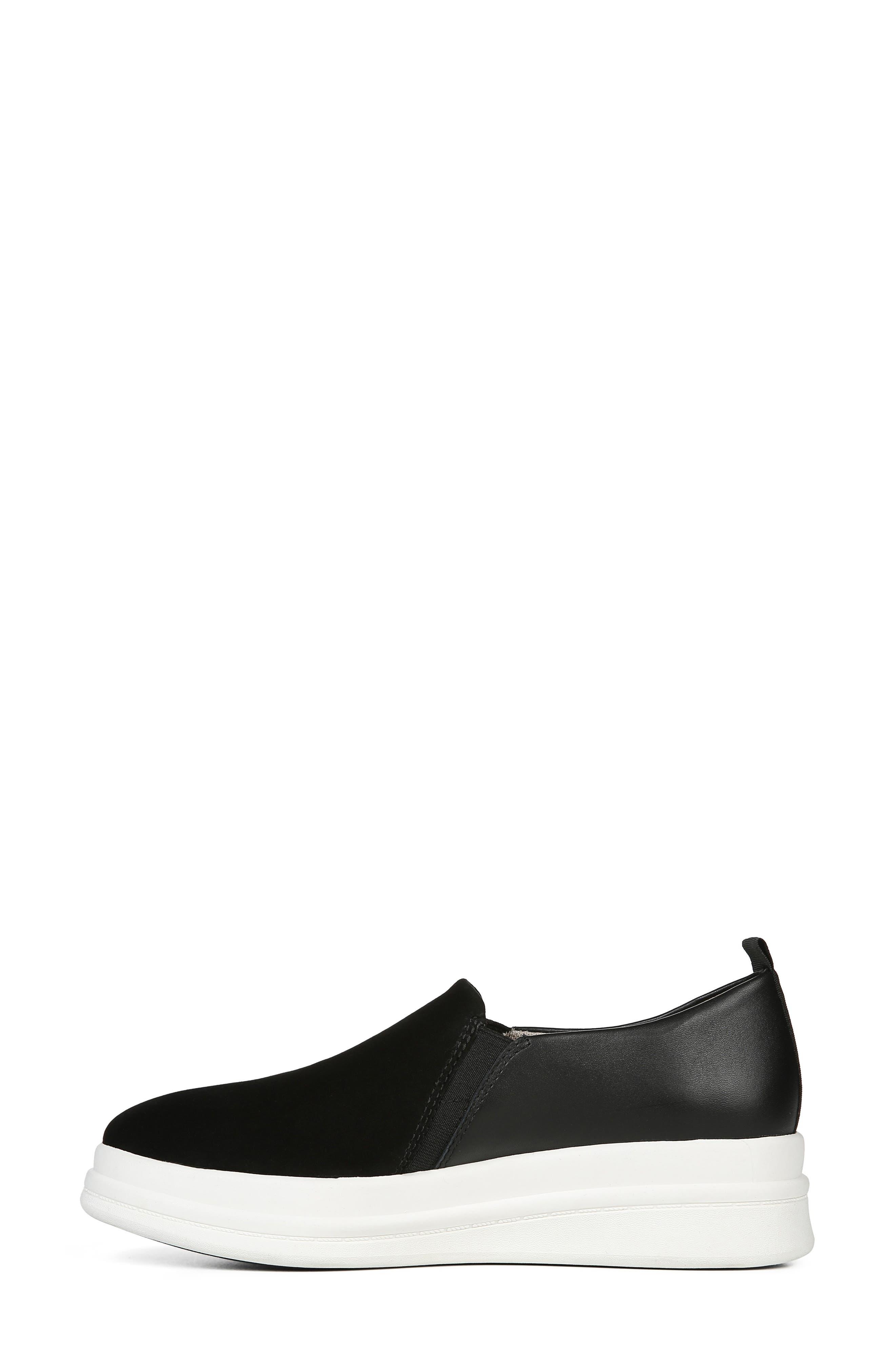 ,                             Yola Slip-On Sneaker,                             Alternate thumbnail 8, color,                             BLACK SUEDE/ LEATHER