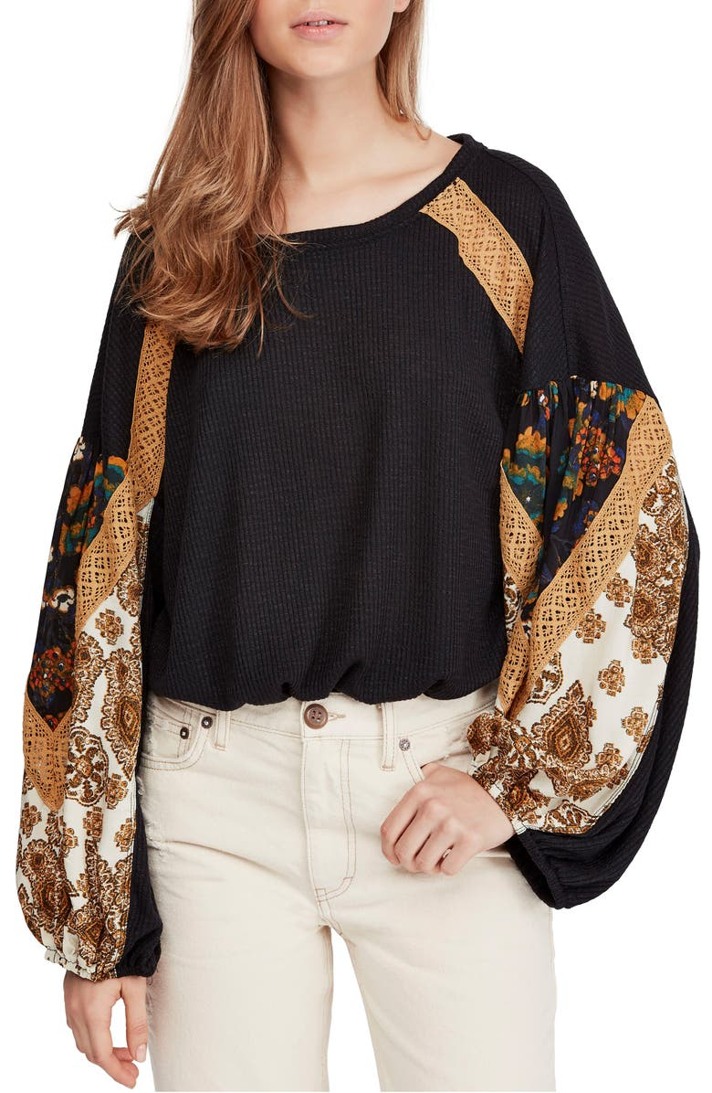 FREE PEOPLE Casual Clash Top, Main, color, 001