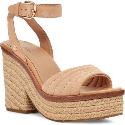 UGG Laynce Ankle Strap Platform Sandal, Beige