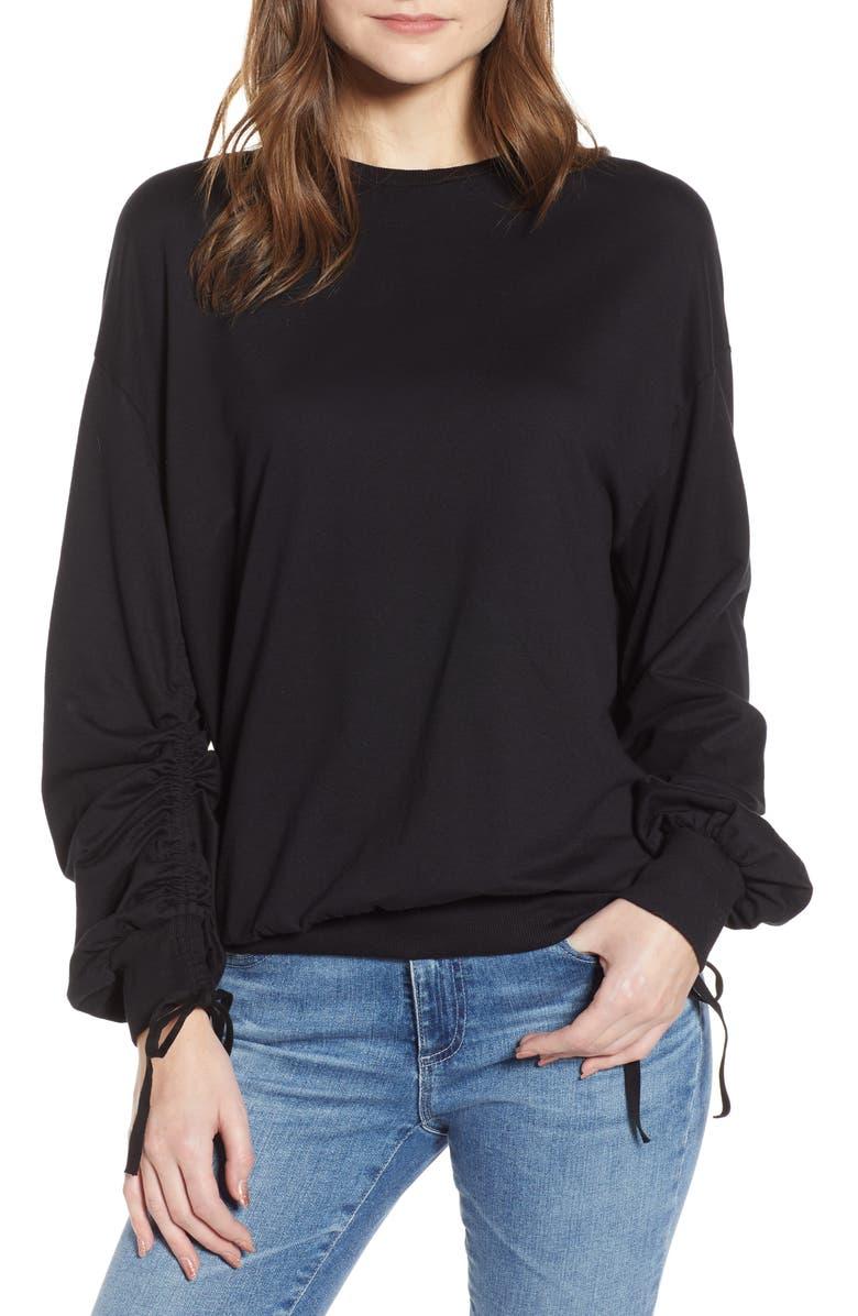 AG Karis Sweatshirt, Main, color, TRUE BLACK