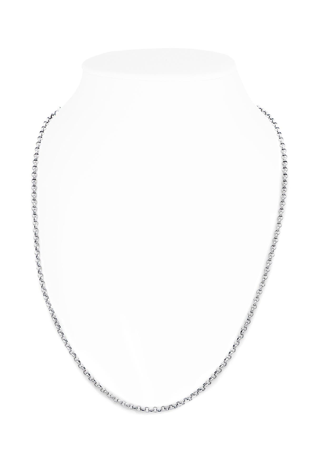 Image of DEVATA Sterling Silver Rolo Chain Necklace