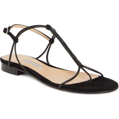 Emme Parsons Liv T-Strap Flat Sandal, Black