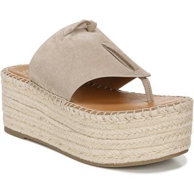 Sarto By Franco Sarto Malia Espradrille Wedge Slide Sandal- Beige