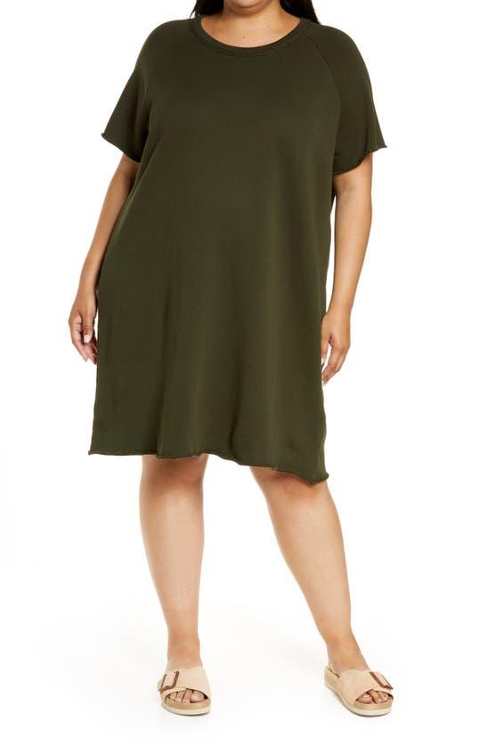 Eileen Fisher RAGLAN ORGANIC COTTON SWEATSHIRT DRESS