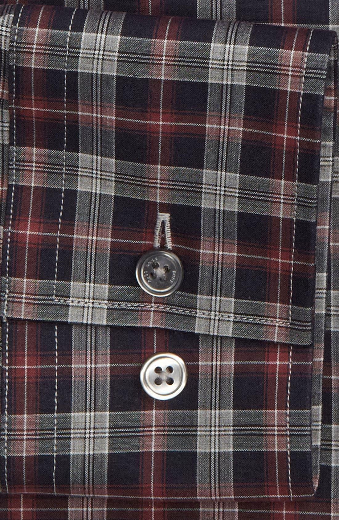 ,                             Black Slim Fit Dress Shirt,                             Alternate thumbnail 2, color,                             410