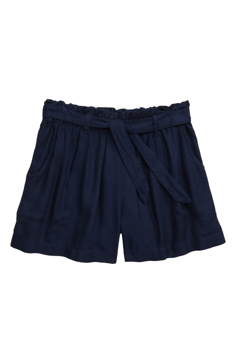 TUCKER + TATE Tie Front Shorts, Main, color, 410