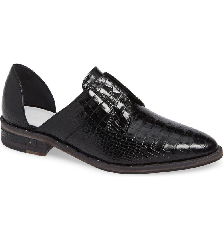 FREDA SALVADOR Wear d'Orsay Laceless Derby, Main, color, BLACK CROC