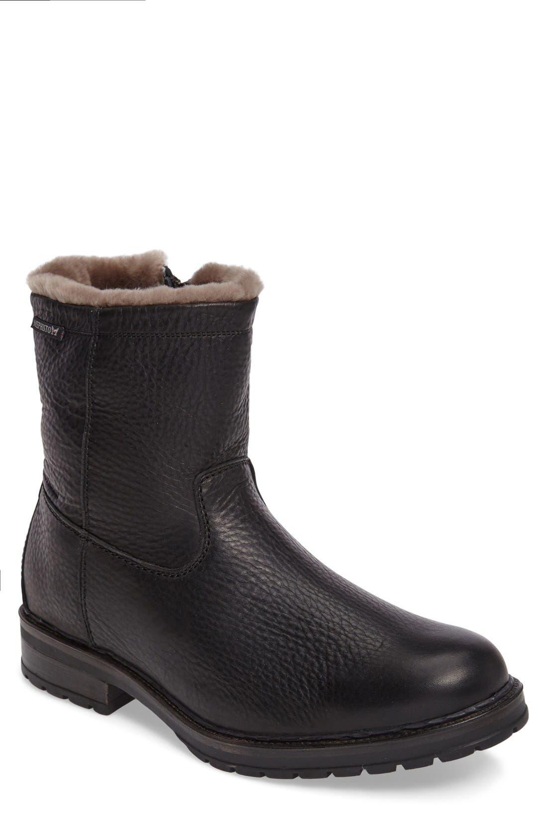 Leonardo Hydroprotect Waterproof Genuine Shearling Lined Boot
