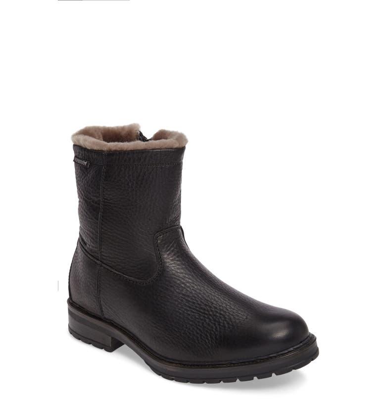 MEPHISTO Leonardo Genuine Shearling Lined Boot, Main, color, BLACK MONTANA