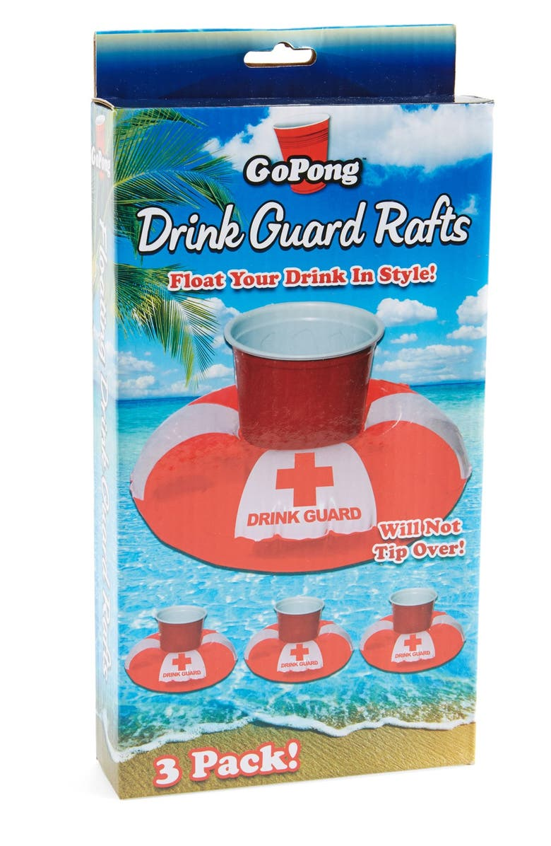 P & P IMPORTS GoPong 'Drink Guard' Inflatable Floating Drink Holder, Main, color, 600