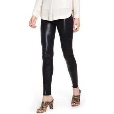 Hue Body Gloss Leggings, Black