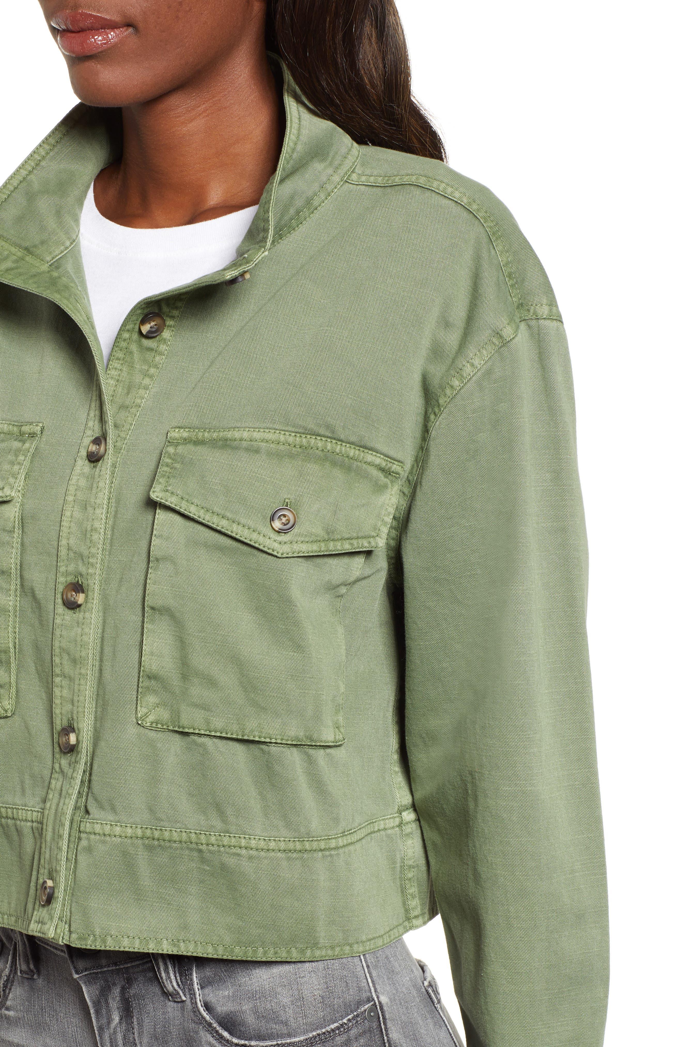 ,                             Crop Military Jacket,                             Alternate thumbnail 5, color,                             301