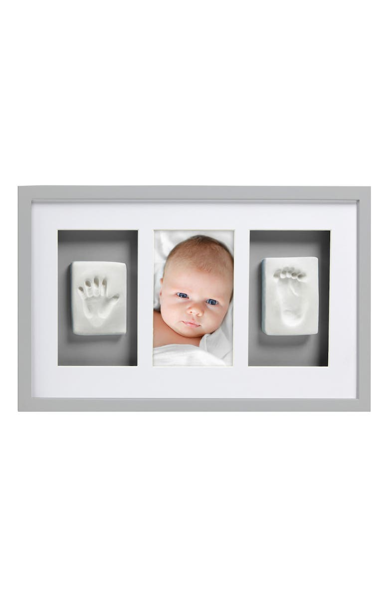 PEARHEAD Babyprints Deluxe Wall Frame Kit, Main, color, GREY