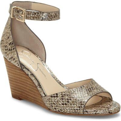 Jessica Simpson Cervena Wedge Sandal, Metallic