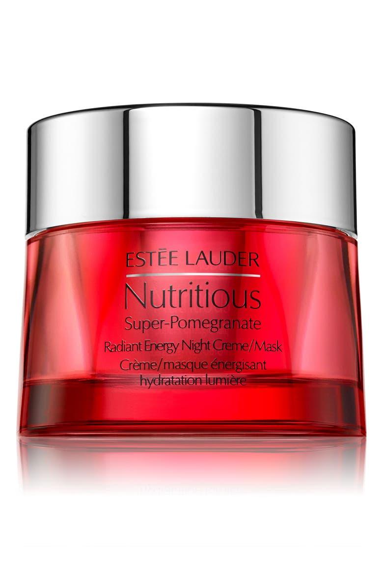 ESTÉE LAUDER Nutritious Super-Pomegranate Radiant Energy Night Crème Mask, Main, color, NO COLOR