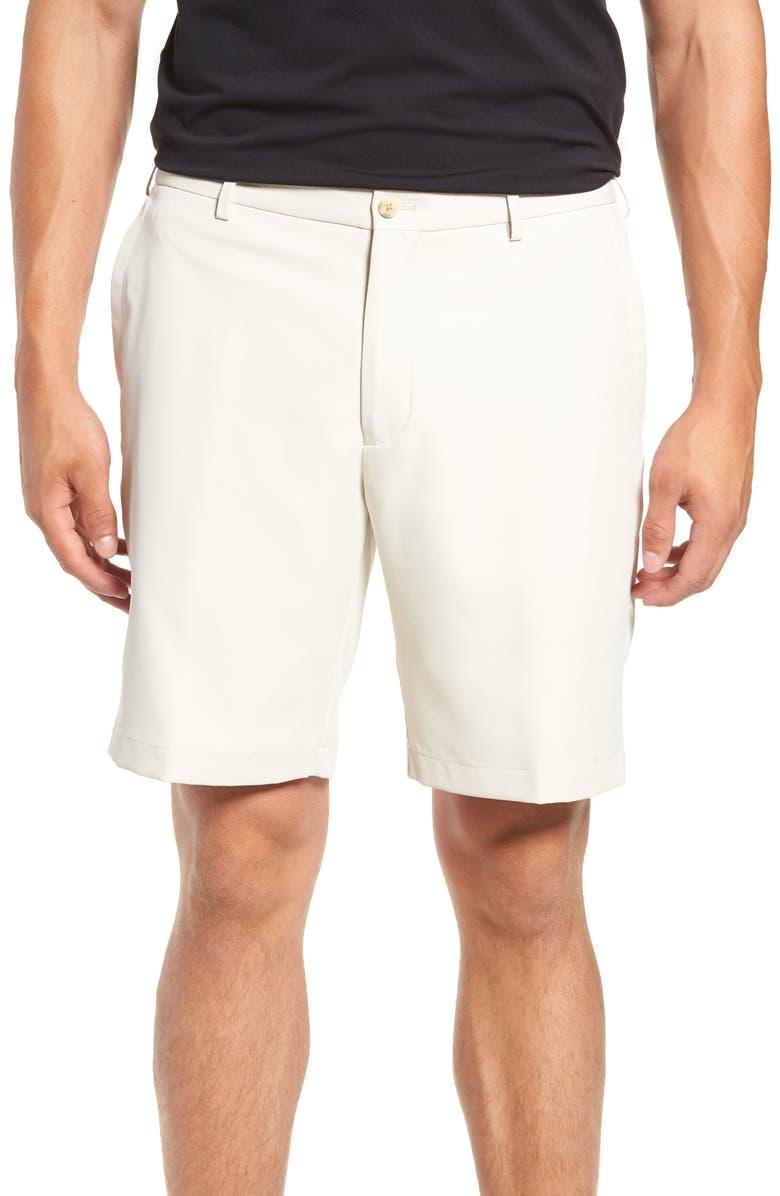 PETER MILLAR Salem High Drape Performance Shorts, Main, color, STONE
