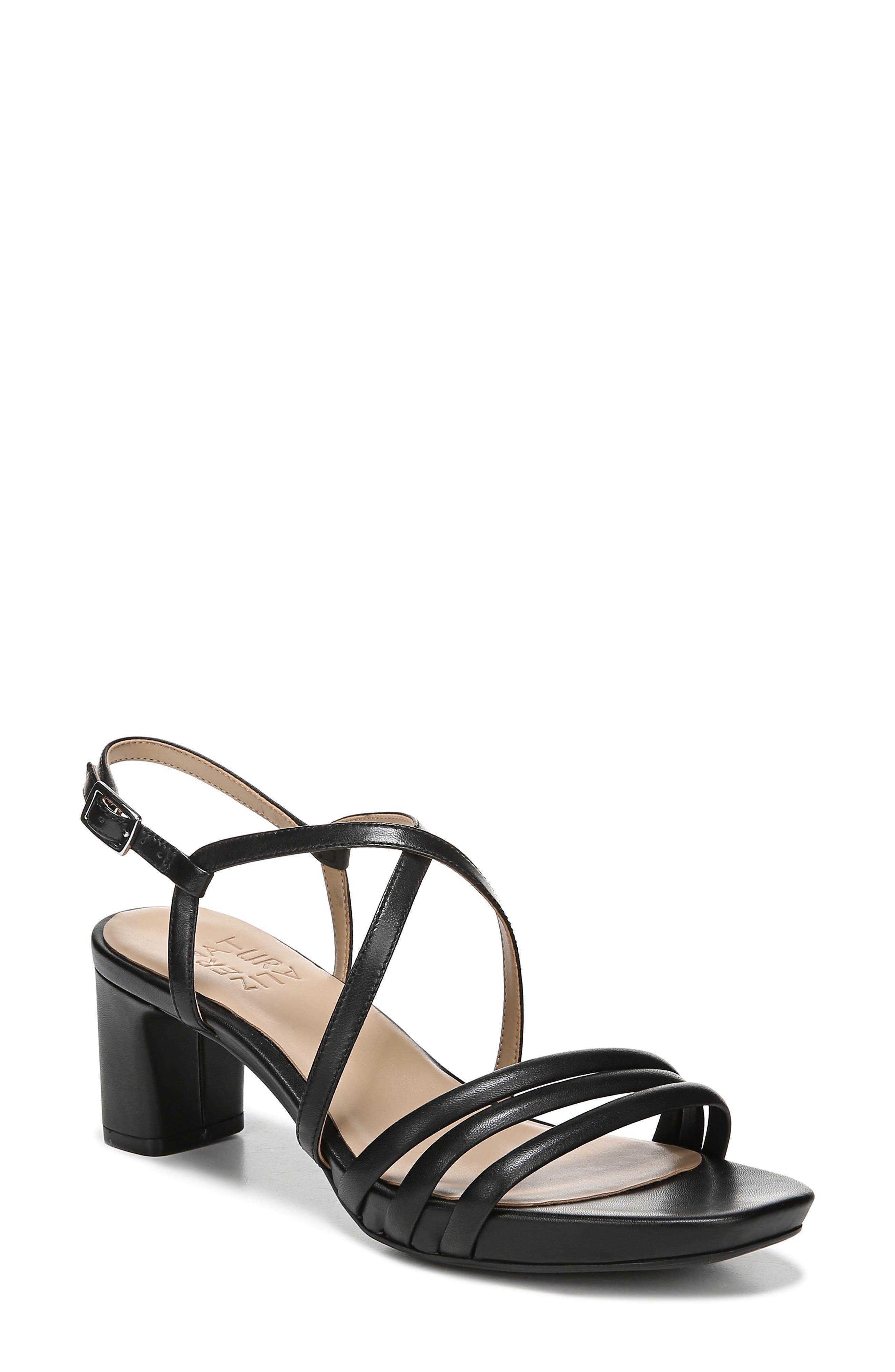 Iris Sandal, Main, color, BLACK LEATHER