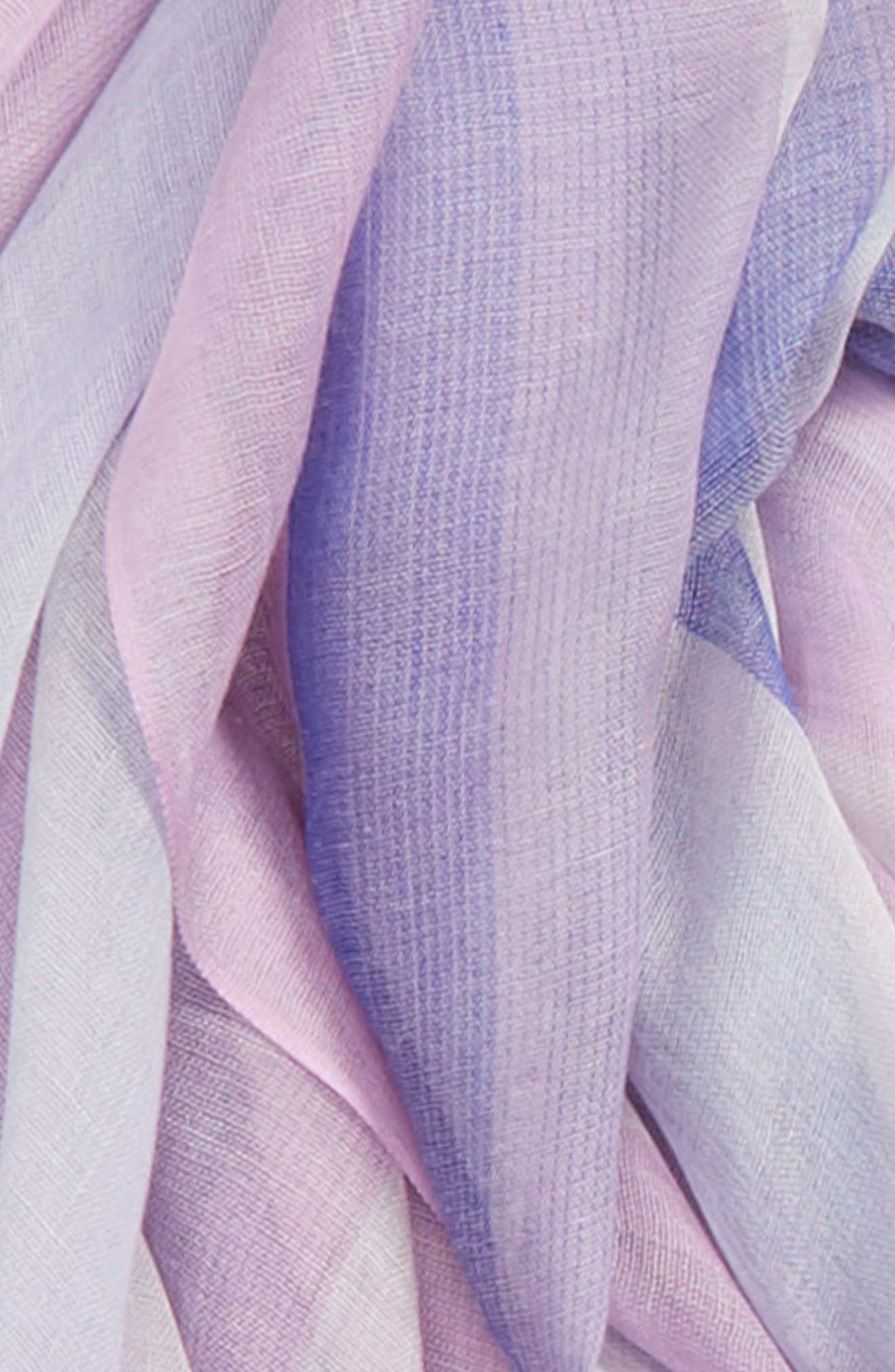 ,                             Yarn Dyed Stripe Wrap,                             Alternate thumbnail 4, color,                             PURPLE COMBO UNICORN STRIPE