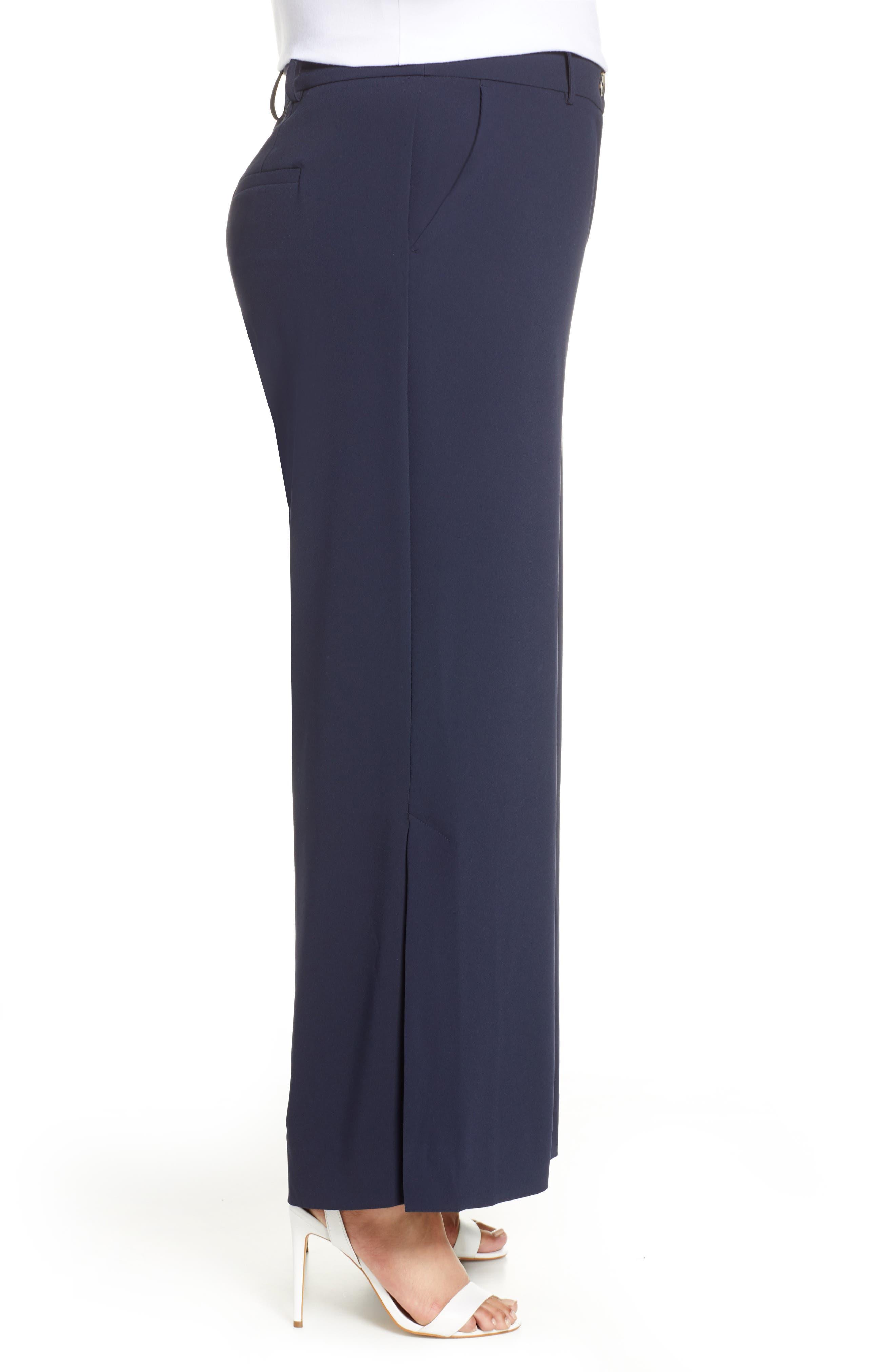 ,                             RACHEL Rachel Roy Wide Leg Trousers,                             Alternate thumbnail 4, color,                             TRUE NAVY