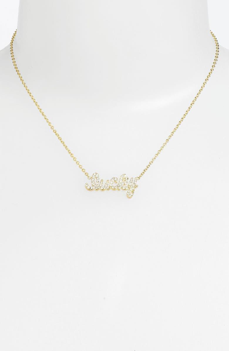 ARIELLA COLLECTION 'Messages - Dream' Script Pendant Necklace, Main, color, 710