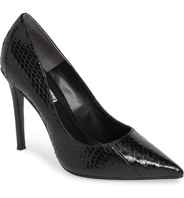 CHARLES DAVID Calessi Pointy Toe Pump, Main, color, BLACK SNAKE PRINT LEATHER