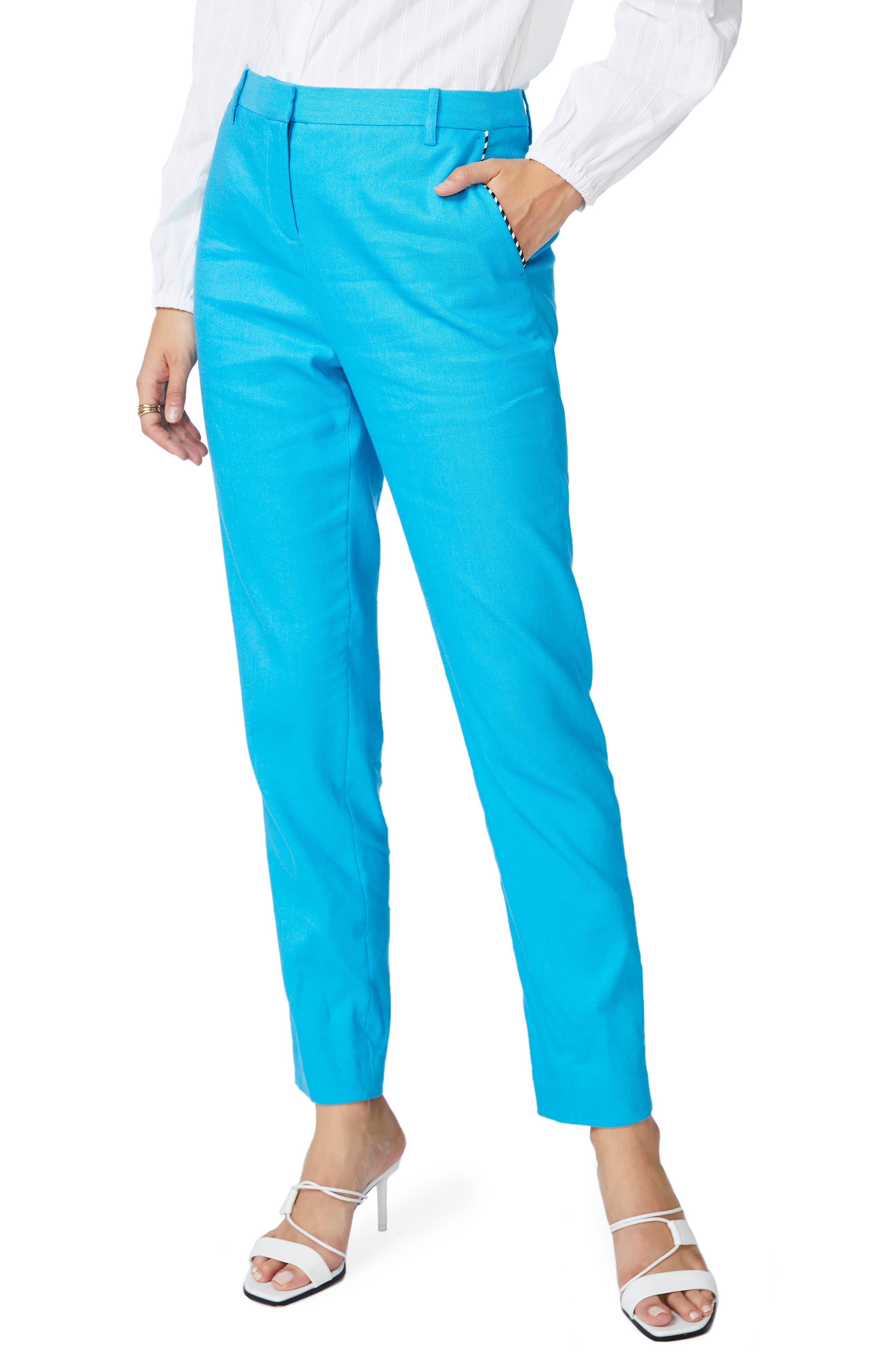 Clean Finish Linen Blend Trousers