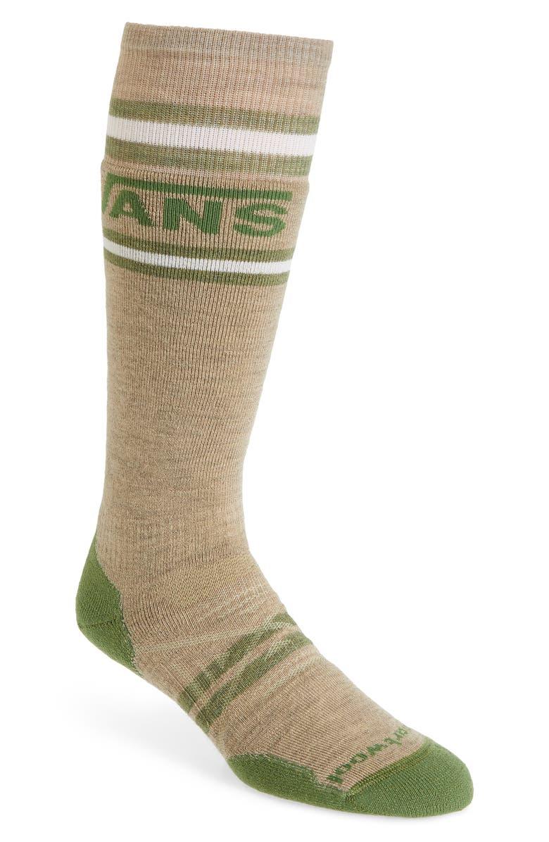 SMARTWOOL x Vans PhD<sup>®</sup> Medium Stripe Snow Socks, Main, color, OATMEAL