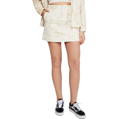 Bdg Urban Outfitters Jungle Print Skirt, Ivory