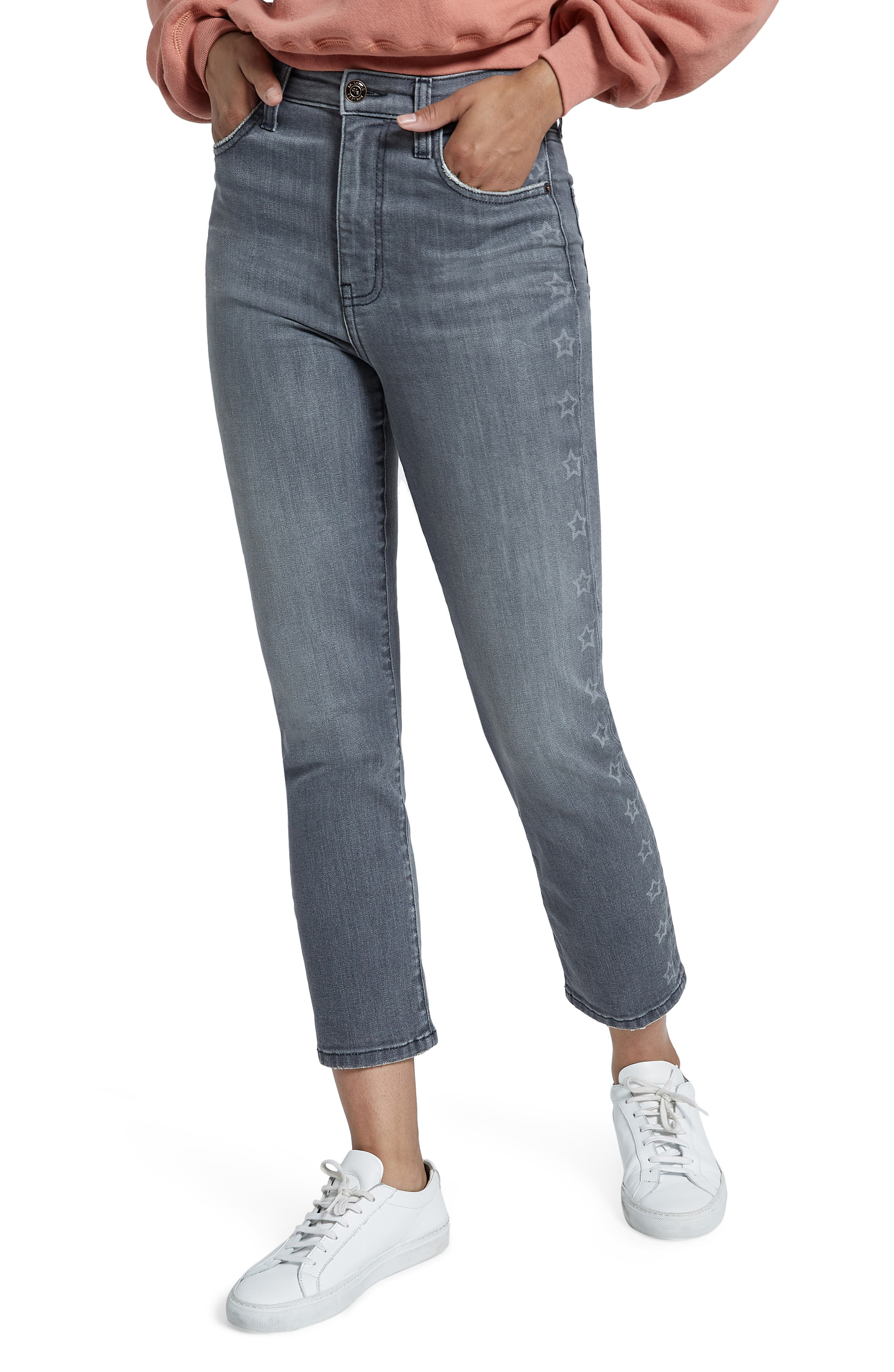 Women's Current/elliott The Original High Waist Star Stripe Cigarette Jeans