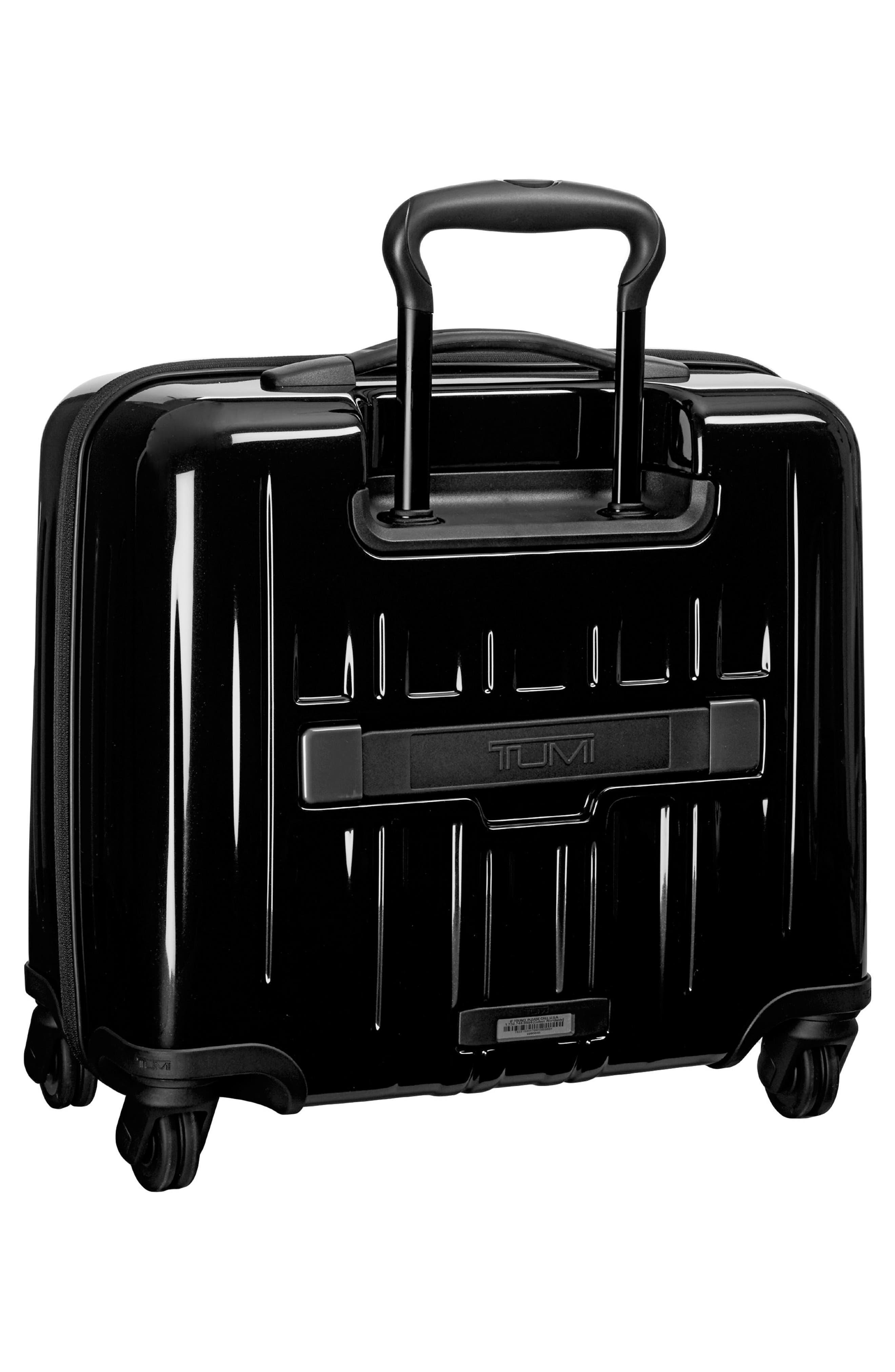 ,                             V3 Compact Carry-On Spinner Briefcase,                             Alternate thumbnail 4, color,                             BLACK
