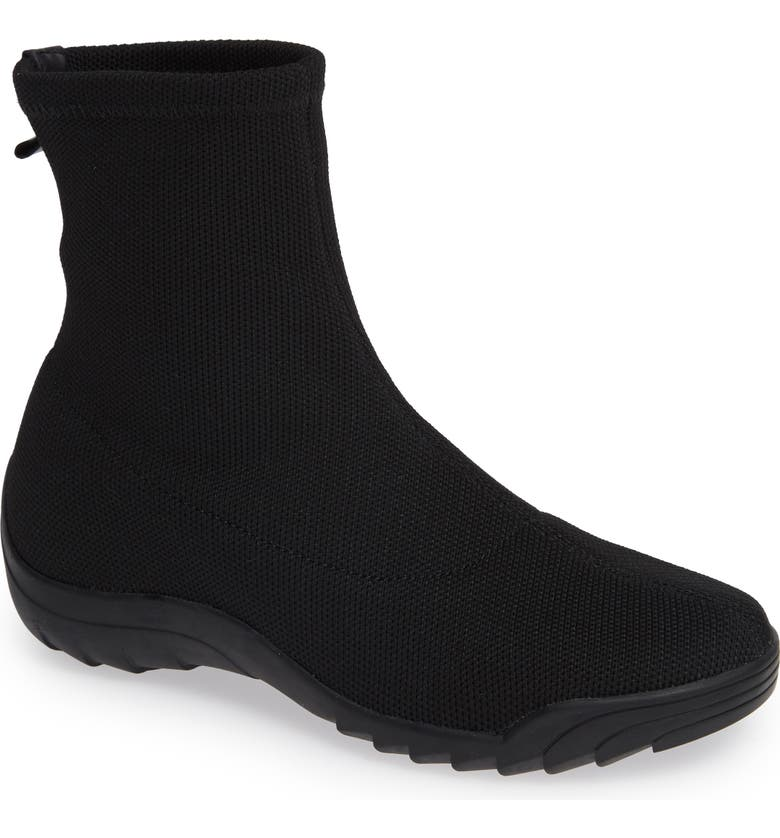 BERNIE MEV. Stav Sock Bootie, Main, color, BLACK FABRIC