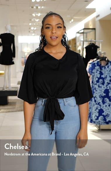 Stripe Crewneck Linen Sweater, sales video thumbnail