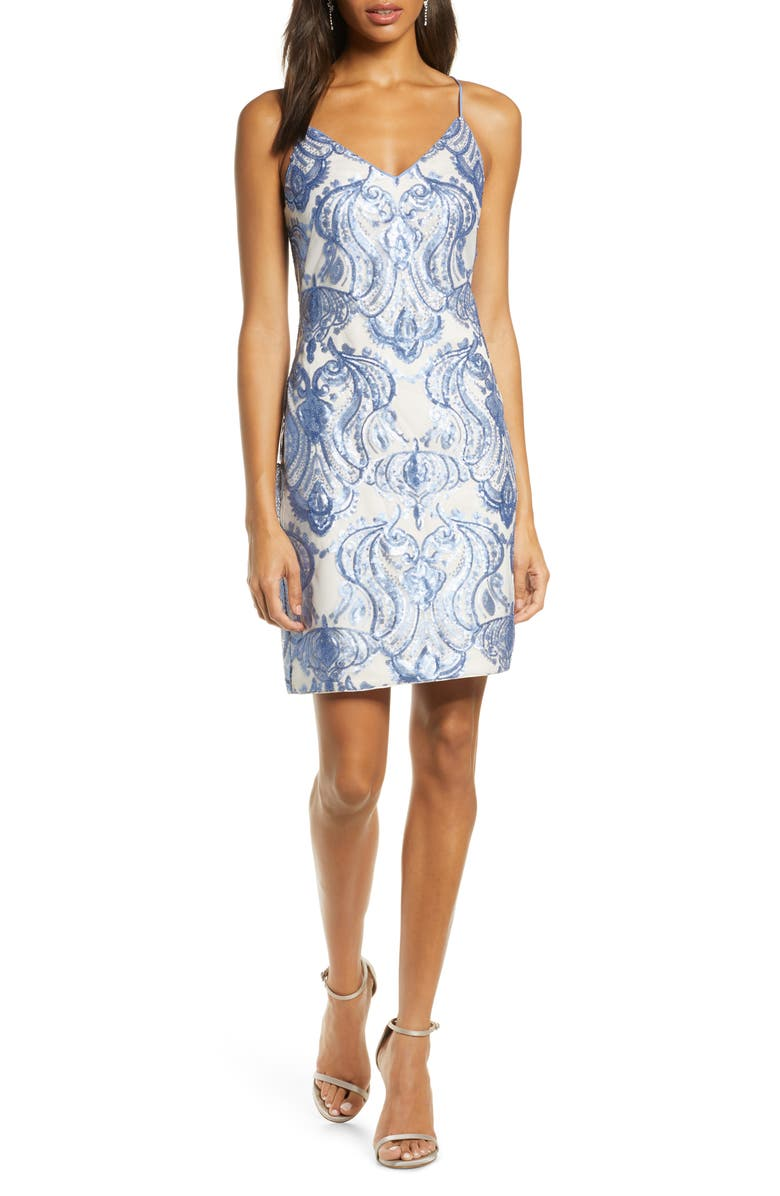 VINCE CAMUTO Sequin Cocktail Dress, Main, color, 452