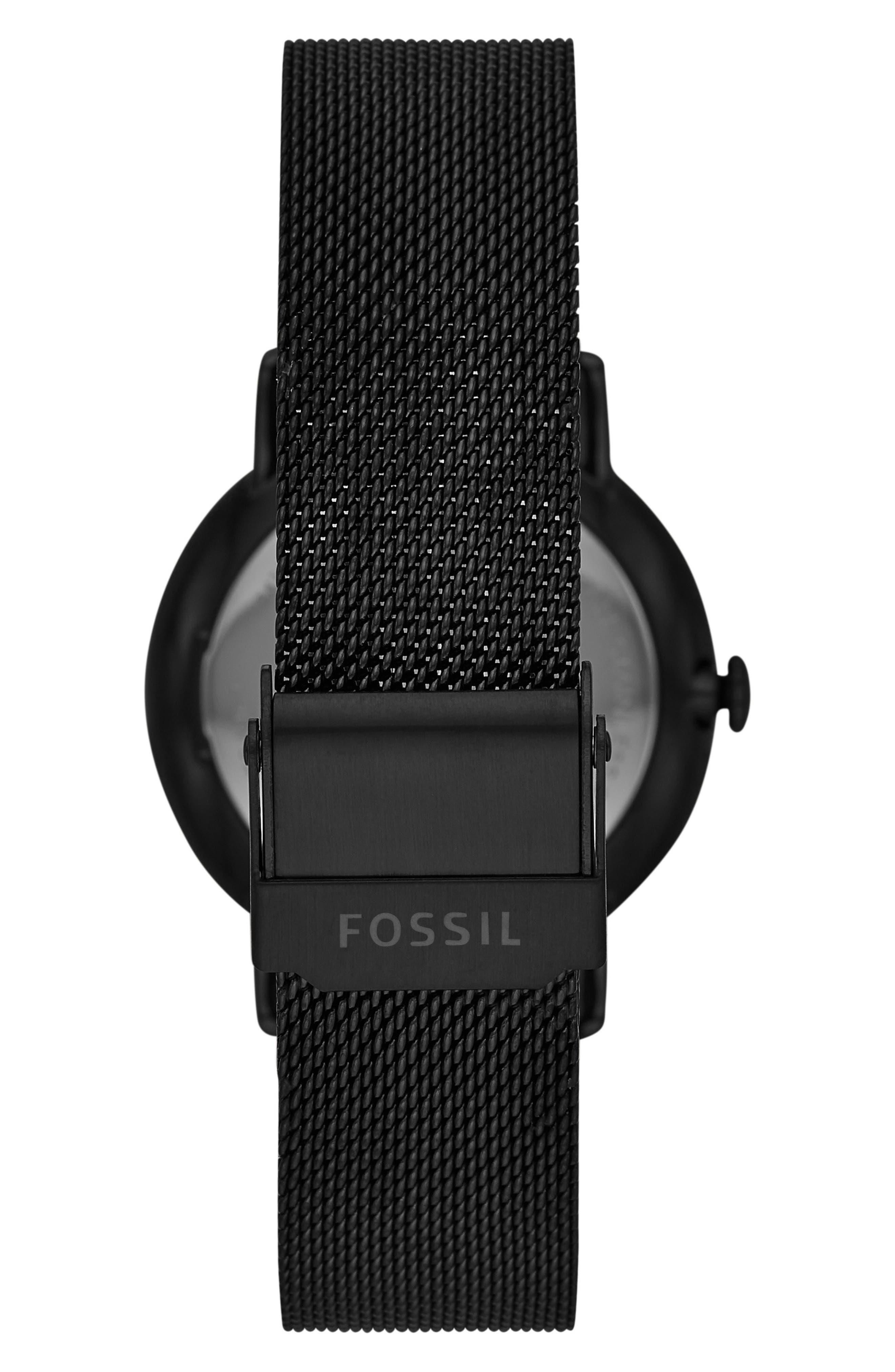 ,                             Neely Mesh Strap Watch, 34mm,                             Alternate thumbnail 2, color,                             BLACK/ ROSE GOLD
