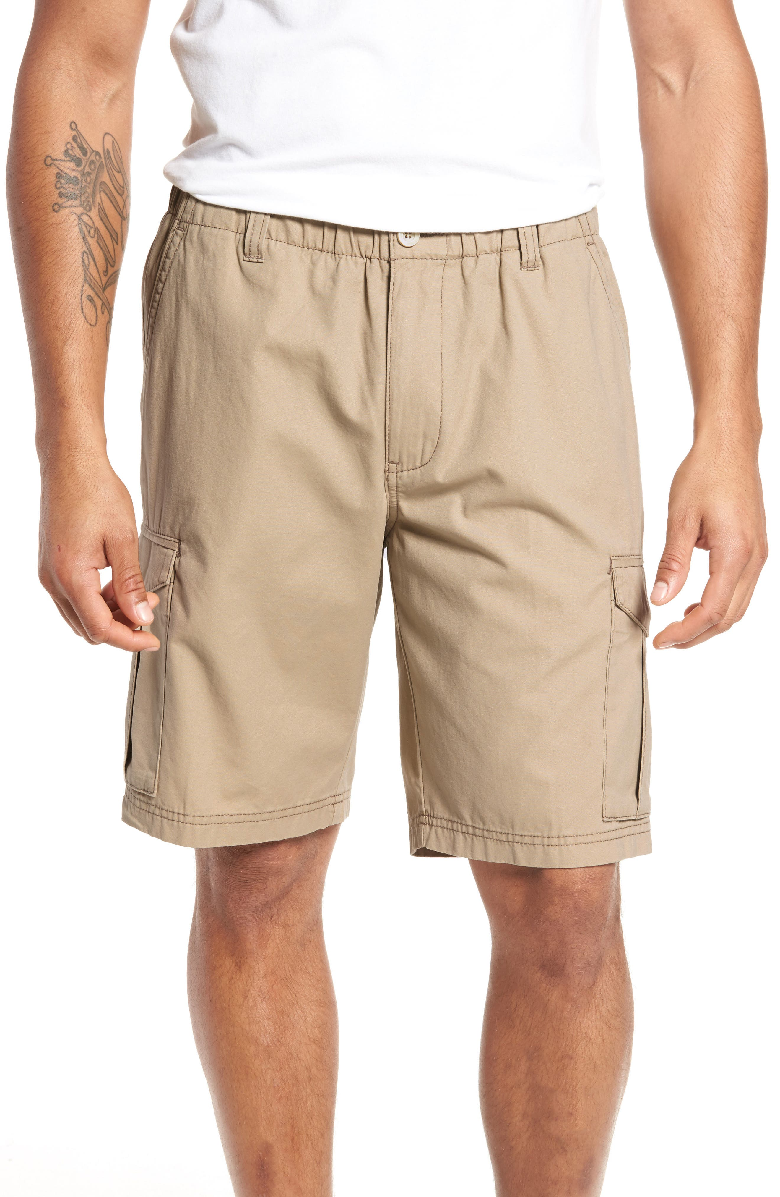 Big & Tall Tommy Bahama Island Survivalist Cargo Shorts - Brown